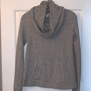Heathered gray cowl neck sweater